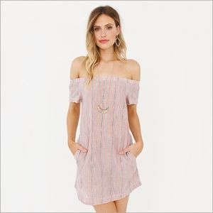 Cay Off The Shoulder Tunic Dress